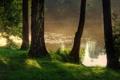 Картинка природа, туман, река, фото, Польша