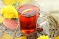 Картинка tea, lemon, wallpaper, background, полноэкранные, листья, обои