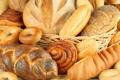 Картинка корзина, хлеб, выпечка, булка, сушки, батон, крендель
