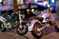 Картинка фон, город, мотоциклы