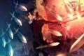Картинка оружие, магия, меч, кинжал, парень, sunakumo