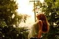 Картинка лето, девушка, свет