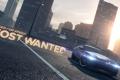 Картинка город, надпись, вечер, автомобиль, need for speed most wanted 2, Ford Mustang Boss