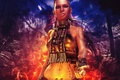 Картинка girl, games, background, ubisoft, tattoo, queen, Far Cry 3