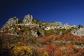Картинка осень, горы, скалы, Франция, дома, Roubion