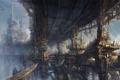 Картинка фантастический мир, фэнтези, гигантский, город, Minseub Jung, дома, арт