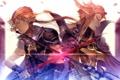 Картинка украшения, оружие, магия, меч, арт, рога, битва