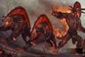 Картинка демон, hon, Heroes of Newerth, War beast, Skullcrusher, S2Games, адские псы