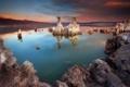 Картинка пейзаж, природа, озеро, скальные образования
