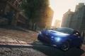 Картинка город, гонка, поворот, автомобиль, bmw m3, need for speed most wanted 2012