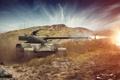 Картинка выстрел, танк, танки, WoT, Мир танков, tank, World of Tanks