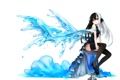 Картинка вода, девушка, бокал, аниме, шарф, арт, kaida michi