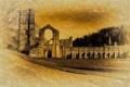 Картинка город, фон, Fountains-Abbey