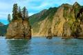 Картинка горы, скала, озеро, Аляска, Kenai Fjords National Park