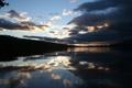 Картинка пейзаж, озеро, вечер