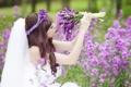 Картинка девушка, настроение, цветы