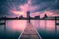 Картинка ночь, город, Milwaukee