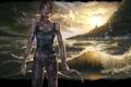 Картинка море, волны, Tomb Raider, Лара Крофт, Lara Croft