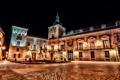 Картинка light, night, constructions, Plaza de la Villa madrid
