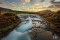 Картинка закат, горы, природа, река