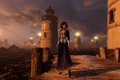 Картинка вода, мост, огни, дерево, маяки, Bioshock Infinite, Элизабет