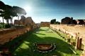 Картинка Italy, небо, внутри, тень, Рим, Rome, амфитеатр
