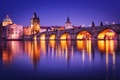Картинка Česká republika, фонари, Чешская Республика, Praha, Карлов мост, свет, Czech Republic