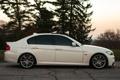 Картинка white, бмв, профиль, белая, 3 серия, BMW, E90