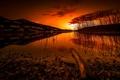 Картинка ночь, природа, река