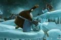 Картинка пингвин, снеговик, Coca Cola