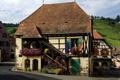 Картинка особняк, Франция, дом, Haut-Rhin, поля, цветы
