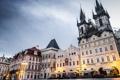 Картинка Staroměstské náměstí, Česká republika, Чешская Республика, рестор, Praha, здания, Prague