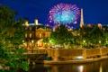 Картинка США, Калифорния, фонари, Анахайм, ночь, канал, огни