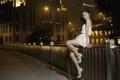 Картинка азиатка, девушка, ночь, Yumi Ling, улица