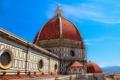 Картинка Дуомо, купол, небо, Флоренция, Италия, собор Санта-Мария-дель-Фьоре, вид с колокольни Джотто