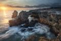 Картинка rock, ocean, water, cloud, sun