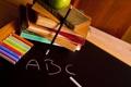 Картинка буквы, фон, обои, настроения, книги, яблоко, wallpaper