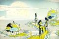 Картинка matei apostolescu, корабль, планета, инопланетяне, rescue