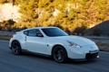 Картинка белый, Nissan, автомобиль, вид сбоку, 370Z, Nismo