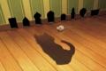 Картинка кот, тень, мышь