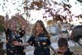 Картинка осень, листья, радость, дети, фон, обои, улица