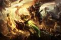 Картинка battlefield, magic, league of legends, swords, creatures, maces