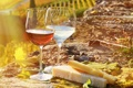 Картинка вино, сыр, винградники