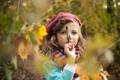 Картинка осень, настроение, краски, девочка