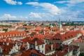 Картинка Чехия, крыши, Прага, панорама, дома