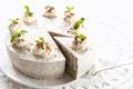 Картинка сладость, шоколад, мята, крем, выпечка, тортик