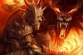 Картинка огонь, монстр, властелин колец, шлем, орк, lord of the rings, Guardians of Middle-earth