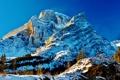 Картинка снег, деревья, горы, природа, Канада, Альберта, Kananaskis Country