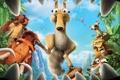 Картинка мультфильм, зубы, орех, пасть, ленивец, Элли, Диего