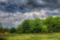 Картинка dark sky, Clouds, trees, nature